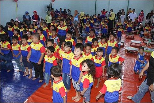 Murid-murid biMBA-AlUEO Uni Puri Bintaro Hijau siap mengikuti Pentas Baca