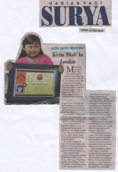 Berita Prestasi Aliya di Surat Kabar