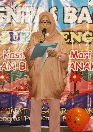 Sambutan dari Ibu Hj.Lili Zainuddin Idris, Mitra Unit Rengas Raya