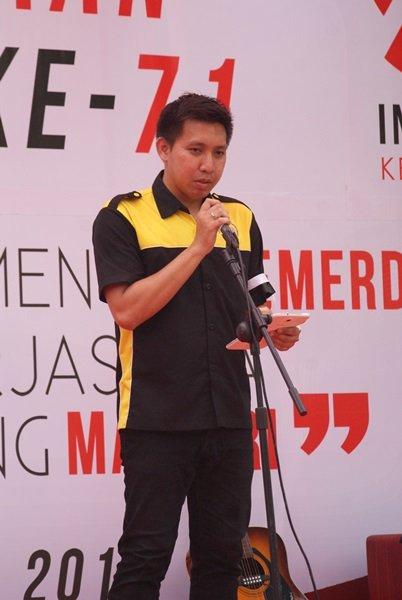 Sambutan Ketua Panitia Peringatan HUT Kemerdekaan RI