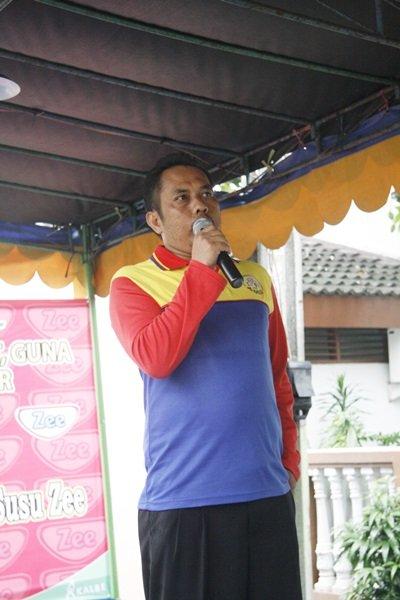 Bapak Salim salah seorang pimpinan Pengelolah Wilah berkenan memberi sambutan