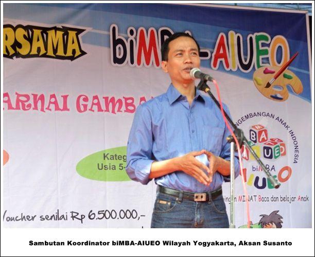 Sambutan Representasi biMBA-AIUEO Wilayah Yogyakarta, Aksan Susanto