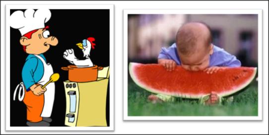 Mengarang cerita kocak berdasarkan gambar